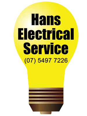Hans Electrical Services Yellow Lightbulb Logo - Med